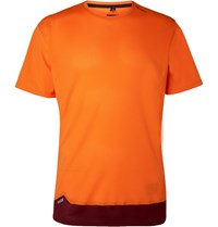 Soar Running Colour Block Mesh T Shirt Orange