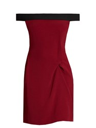 Roland Mouret Barnabas Off The Shoulder Dress Red