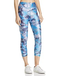 Terez Denim Camo Capri Leggings Blue