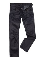Jack And Jones Boxy Powell Coated Loose Fit Jeans Dark Blue