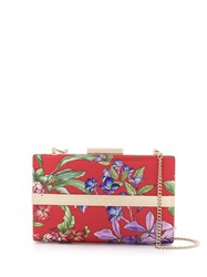 Liu Jo Floral Print Clutch Red