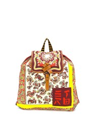 Etro Paisley Print Backpack Red