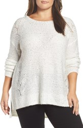 Nydj Plus Size Women's Sequin Sweater Vanilla