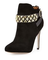 Badgley Mischka Joyce Suede Bootie Black