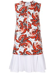 Dondup Printed Flared Dress Multicolour