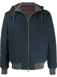 Barba Hooded Jacket Blue