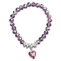 Martick Murano Heart And Crystal Bracelet Purple