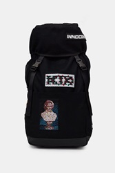 Ktz Shearling Patches Backpack Black
