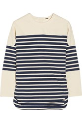 Adam By Adam Lippes Striped Cotton Top Blue