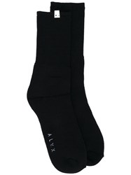 Alix Snawa Socks Unisex Cotton Nylon Spandex Elastane L Xl Black