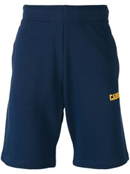 Carhartt College Sweatshorts Men Cotton M Blue