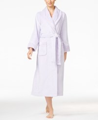 Charter Club Super Soft Texture Trimmed Long Robe Only At Macy's Lilac