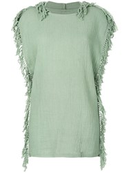 Caravana Kii Knitted Dress Cotton Green