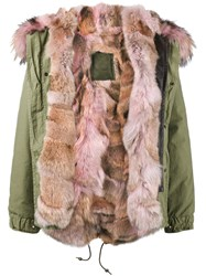 Mr And Mrs Italy Coyote Fur Lined Parka Women Cotton Lamb Skin Polyamide Coyote Fur Xs Green