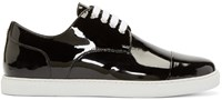 Dsquared Black Patent Leather Low Top Sneakers