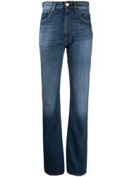 Pinko High Waisted Straight Leg Jeans Blue