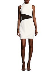 Alexia Admor Modern Colorblock Shift Dress White Black