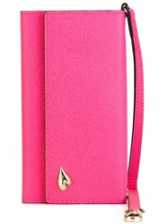Diane Von Furstenberg Foldover Iphone 6 Wristlet Case Pink And Purple