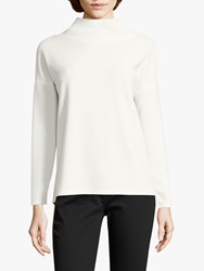 Betty Barclay Cowl Neck Long Sleeve Top Off White
