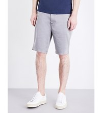 Armani Jeans Tailored Stretch Cotton Chino Shorts Grey
