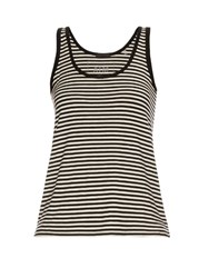 Atm Anthony Thomas Melillo Striped Tank Top Black Stripe