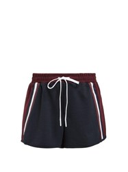 The Upside Wolfpack Contrast Panel Performance Shorts Burgundy Navy