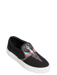 Marcelo Burlon Lauren Printed Canvas Slip On Sneakers