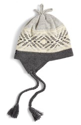 Patagonia Women's Earflap Beanie Grey Sharpened Edge Drifter Grey