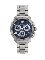 Versace Dylos Chrono Stainless Steel Bracelet Watch Silver