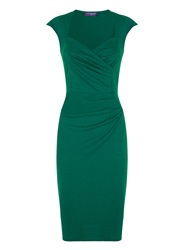 Hotsquash Short Sleeved Dress In Clever Fabric Green