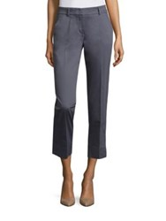 Peserico Solid Cropped Trousers Dusty Blue