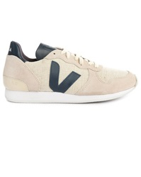 Veja Ecru Suede And Mesh And Blue Leather Holiday