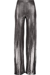 Opening Ceremony Luminous Lame Wide Leg Pants Silver