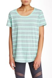 Marc New York Striped Scoop Neck Tee Green
