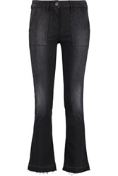 3X1 Mid Rise Faded Bootcut Jeans Black