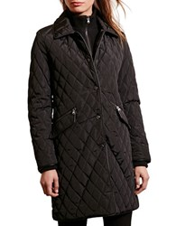Lauren Ralph Lauren Quilted Faux Leather Trim Jacket Black