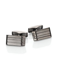 Dunhill Etched Ruthenium Plate Cuff Links Gunmetal
