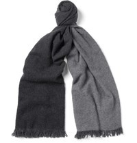 Begg And Co Nuance Degrade Cashmere Scarf Gray