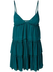Fisico Tiered Babydoll Cover Up Blue