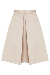 Tibi New York Pleated Satin Skirt