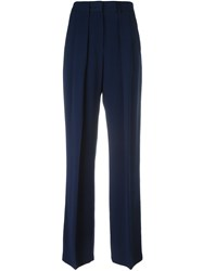 Msgm Wide Leg Trousers Blue