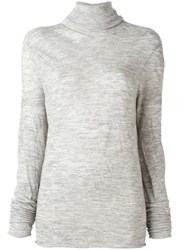 Lost And Found Ria Dunn High Neck Jumper Grey