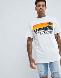 Pull And Bear Pullandbear T Shirt In White With Embossed Print