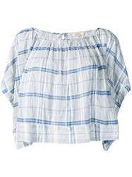 Bellerose Checked Loose Fit Blouse Blue