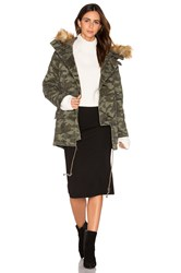 Capulet Catskill Parka With Faux Fur Trim Army