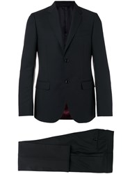 Gucci Classic Two Piece Suit Men Cupro Mohair Wool 50 Black