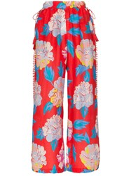 A Peace Treaty Talla Floral Print Trousers Red