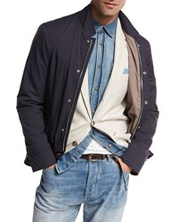 Brunello Cucinelli Nylon Sport Jacket Navy