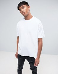 Antioch Oversized Velour T Shirt White