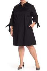 Lafayette 148 New York Talia Dress Plus Size Black